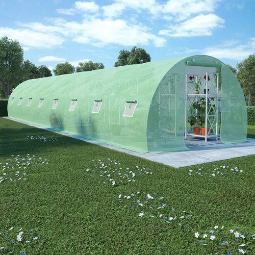 VidaXL Szklarnia ogrodowa, stalowa konstrukcja, 36 m², 1200x300x200 cm (8718475723431)
