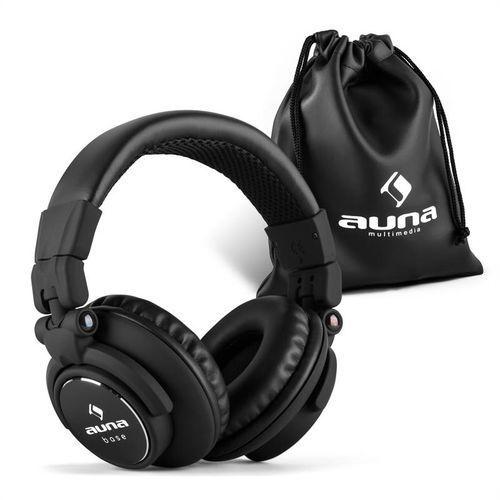 Auna Base słuchawki DJ 15Hz-22kHz zamknięte składane Zamów ten produkt do 21.12.16 do 12:00 godziny i skorzystaj z dostawą do 24.12.2016