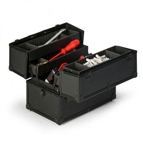 B2b partner Rozkładana walizka aluminiowa na narzędzia, 370 x 233 x 278 mm