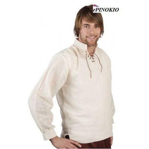 Koszula średniowieczna kremowa - L, XL - stroje/przebrania dla dorosłych