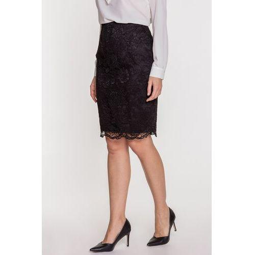 Czarna spódnica ołówkowa z koronki - EMOI, 1 rozmiar