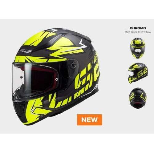 Ls2 Kask motocyklowy kask ff353 rapid chromo black h-v yellow nowość: 2020
