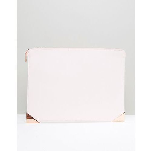 Ted Baker Leather Pouch With Printed Lining - Pink