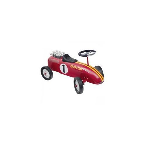 Goki Jeździk retro czerwona wyścigówka,
