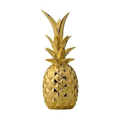 Bloomingville Dekoracja ananas 2 złoto