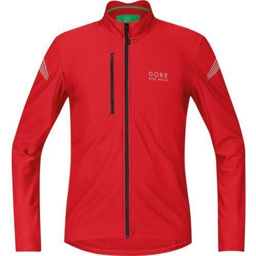 element thermo koszulka kolarska mężczyźni czerwo l koszulki rowerowe z długim rękawem marki Gore bike wear