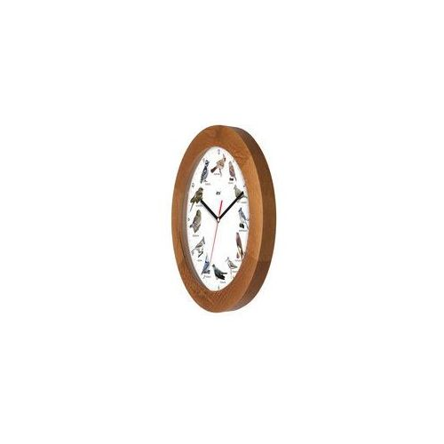 Zegar z głosami ptaków drewniany solid #3B, ATW300PK5