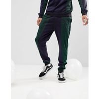 ASOS Knitted Co-ord Colour Block Joggers In Metallic Yarn - Navy, w 5 rozmiarach