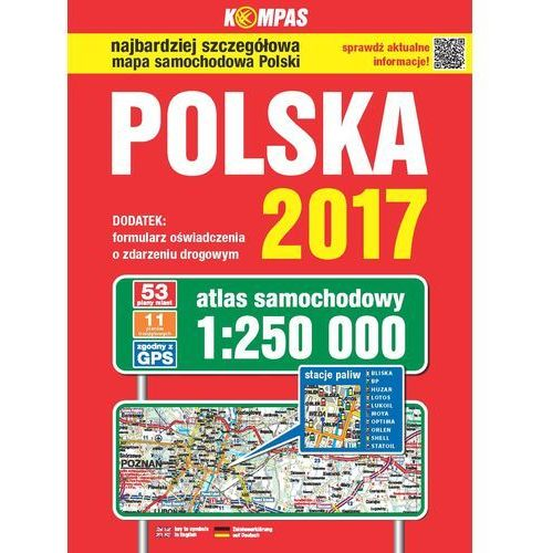 Atlas samochodowy Polski Kompas 1:250 000/2017 (9788377059791)