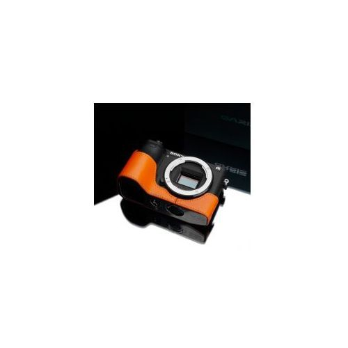 Gariz Halfcase z naturalnej skóry w kolorze pomarańczowym dedykowany do sony a6500