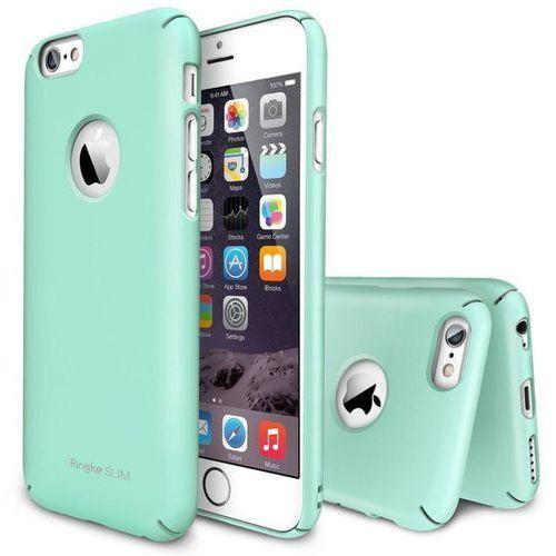 Zestaw  - obudowa ringke slim mint + folia na ekran apple iphone 6 / 6s - miętowy marki Rearth