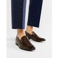 tenor penny loafers in brown - brown marki Base london