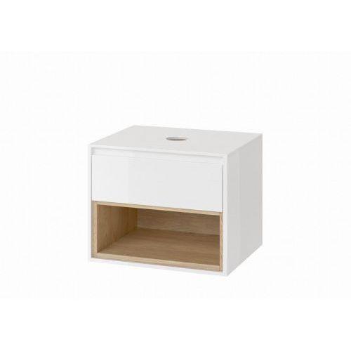 EXCELLENT TUTO Szafka podumywalkowa 60, biały/dąb MLEX.0102.600.WHBL