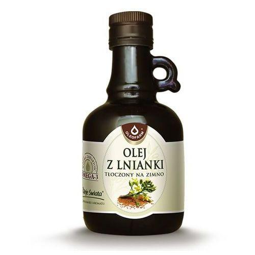 Olej z lnianki (rydzowy) tłoczony na zimno Oleje świata 250ml Oleofarm (5904960012385)