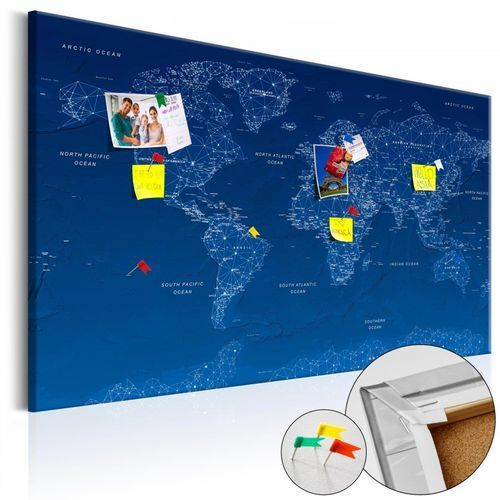 Artgeist Obraz na korku - mapa świata: world connection [mapa korkowa]