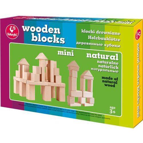 Kukuryku Klocki drewniane mini naturalne - adamigo. darmowa dostawa do kiosku ruchu od 24,99zł