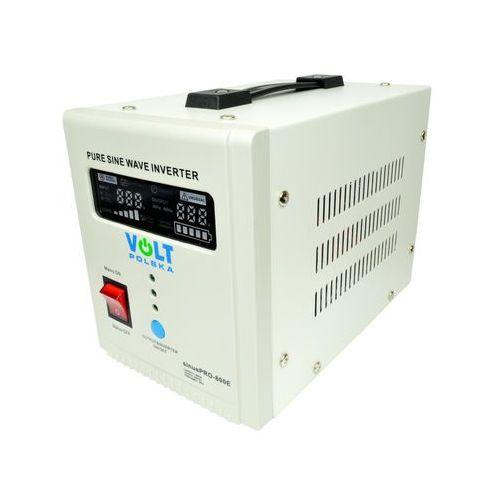VOLT sinusPRO-800E Przetwornica samochodowa 500W/800W 12V/230V z pełną sinusoidą oraz funkcją UPS i prostownika