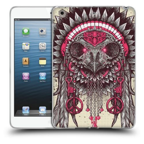 Etui silikonowe na tablet - Ethnic Owls PINK AND GREY