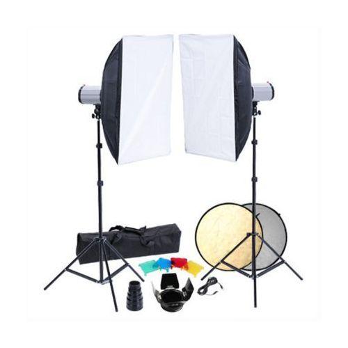 Vidaxl  zestaw studio: 2 lampy, softboksy i statywy (8718475815129)