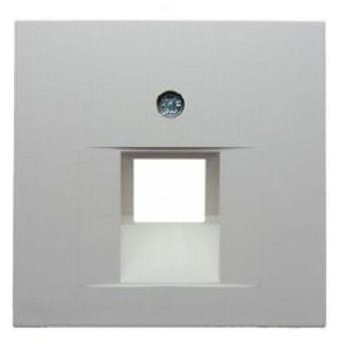 Berker b.kwadrat płytka czołowa do gniazda przyłączeniowego uae pojedynczego komputerowego i telefonicznego, biały, połysk 5314078989
