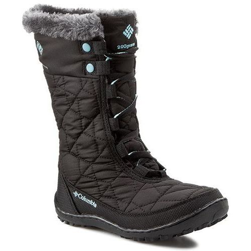 Śniegowce COLUMBIA - Youth Minx Mid II Waterproof BY 1313 Black/Iceberg 010