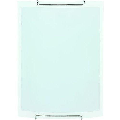 Alfa Kinkiet white 90351 lampa ścienna 1x60w e27 biały matowy/przezroczysty (5900458903517)