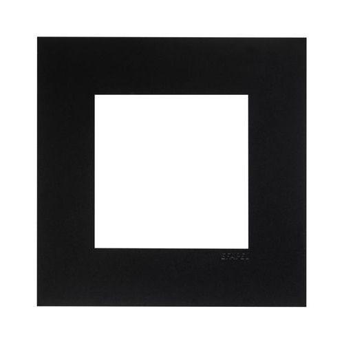 Ramka pojedyncza quadro czarna marki Efapel