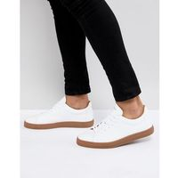 trainer in white leather with gum sole - white, Selected homme