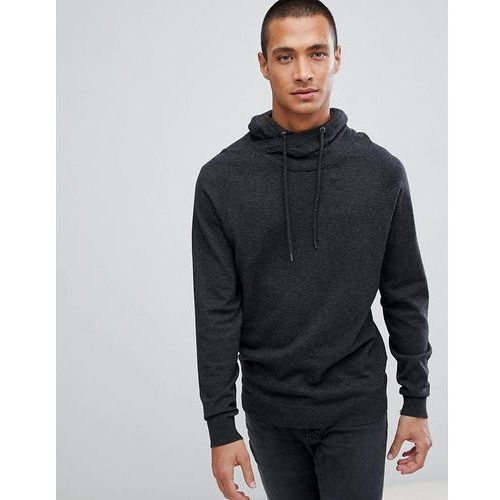 Esprit Cashmere Blend Funnel Neck Jumper In Grey - Grey