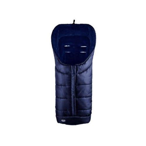 śpiworek do wózka deluxe kolor granatowo-niebieski marki Urra