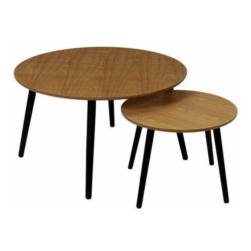 Intesi Staford naturalny/czarny zestaw stolików kawowych