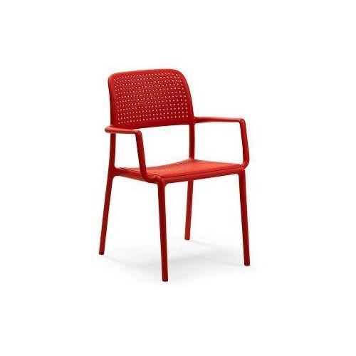 Krzesło bora z podłokietnikami czerwone marki Nardi