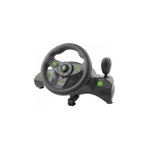 Kierownica egw102 nitro pro pc, ps3 + pedály (egw102 - 5901299946893) czarny marki Esperanza