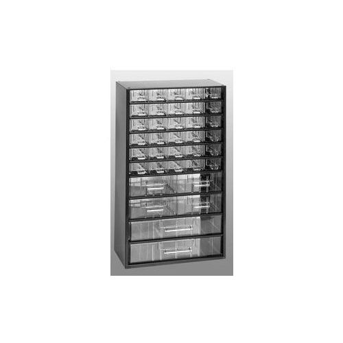 Magazyn z szufladami, wys. x szer. x głęb. 551 x 306 x 155 mm,36 szuflad polistyren