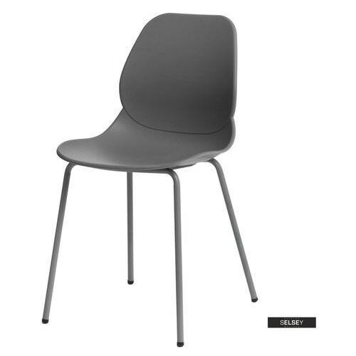SELSEY Krzesło Layer szare, kolor szary