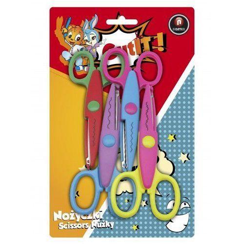 Nożyczki szkolne wzorki 4 sztuki marki Noster