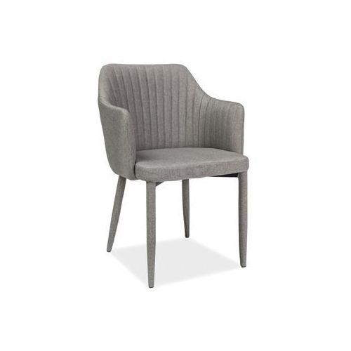 Krzesło - SIGNAL WELTON - szary - materiał