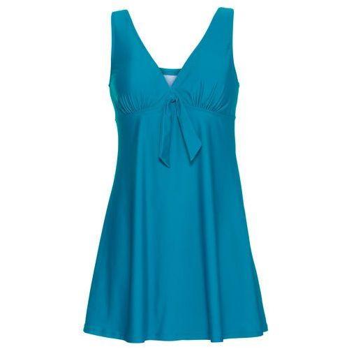 Sukienka kąpielowa bonprix niebieskozielony morski, w 4 rozmiarach