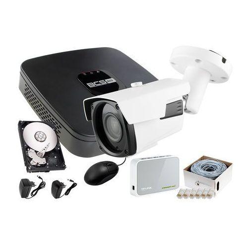 Zestaw do monitoringu: rejestrator ip bcs-nvr04015me + 1x kamera fullhd lv-ip2601ip + dysk 1tb + akcesoria marki Ivelset