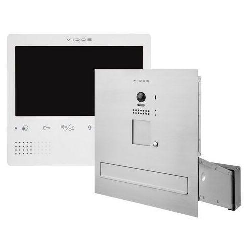 Zestaw wideodomofonu cyfrowego skrzynka na listy s1201a-skm m1023w marki Vidos