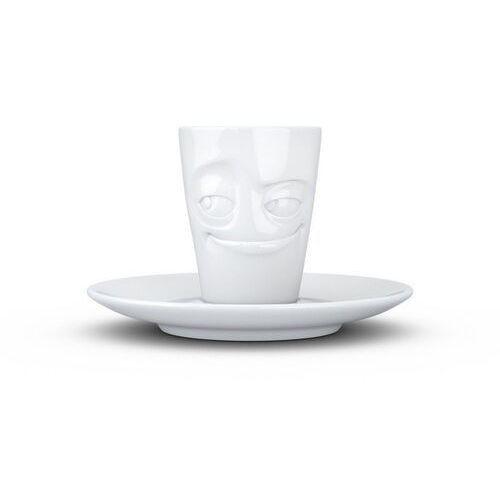 """58products - kubek do espresso - """"łobuziak"""" - biały błyszczący (4250255859199)"""