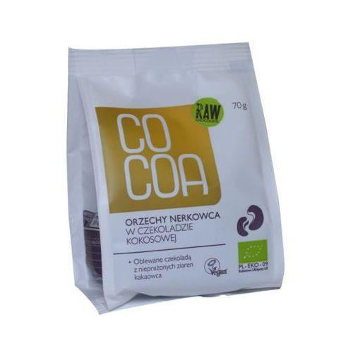 70g orzechy nerkowca w czekoladzie kokosowej bio marki Cocoa