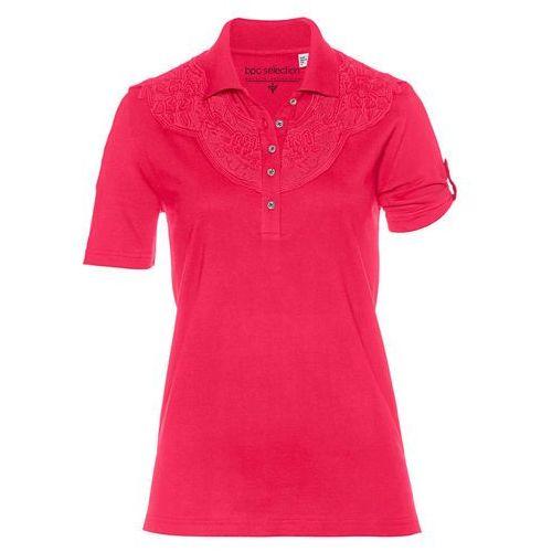 Bonprix Shirt polo czerwień granatu