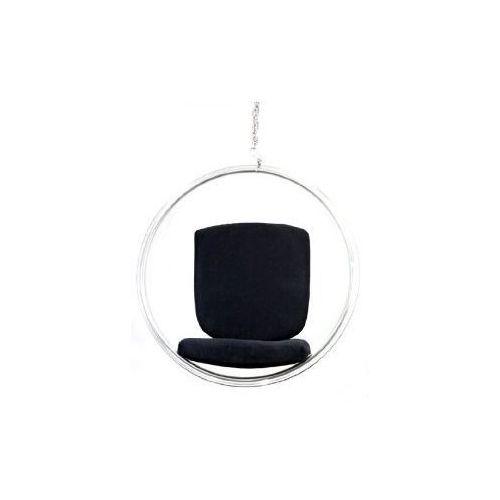 Fotel Bańska insp. BUBBLE czarna poduszka D2
