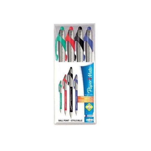 Paper mate Papermate długopis automatyczny flexgrip elite mix kolorów, 4 sztuki