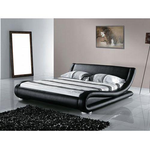 Łóżko skórzane 180x200 cm ze stelażem avignon marki Beliani