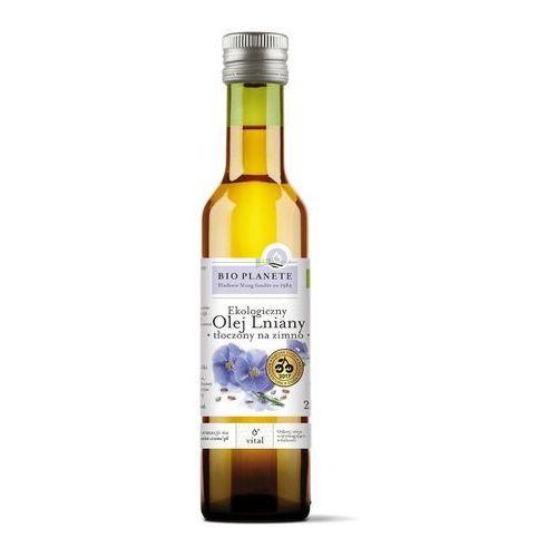 Bio planete (oleje i oliwy) Olej lniany virgin bio 250 ml - bio planete