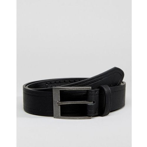 belt with weave detail in black - black marki New look