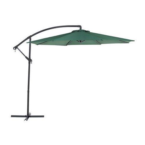 Parasol ogrodowy na wysięgniku - stojak metalowy - zielony