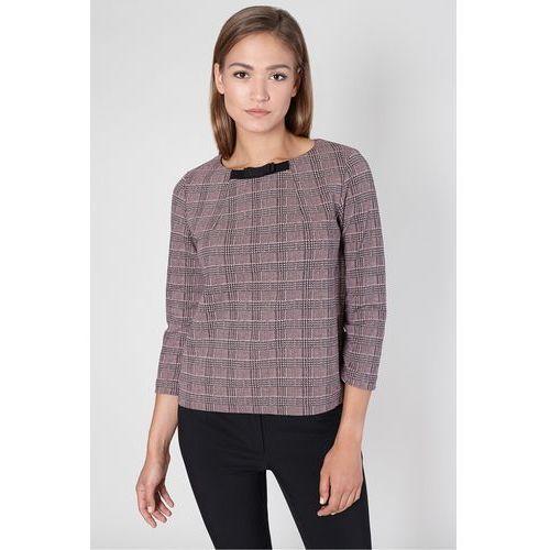 Elegancka bluzka w różową kratę - Click Fashion